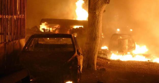 Samsun'da Sanayi Sitesi'nde Korkutan Yangın