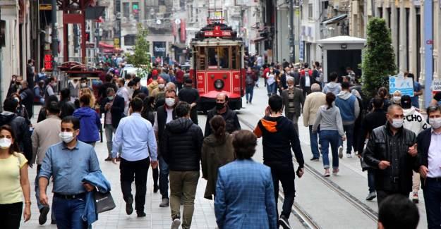 Taksim'de Drone ile Maske Kontrolü
