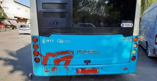 Ümraniye'de Otobüse Alınmayan Kadın Terör Estirdi!