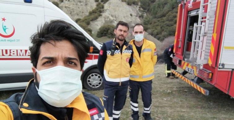 112 Acil Sağlık Ekiplerinden Yangına Müdahale!