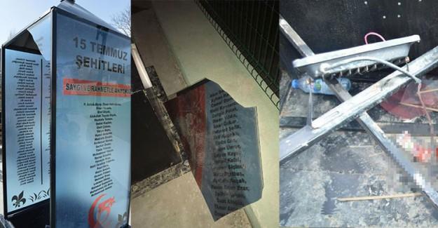15 Temmuz Şehitleri Anıtı'na Saldıran Alçak Yakalandı