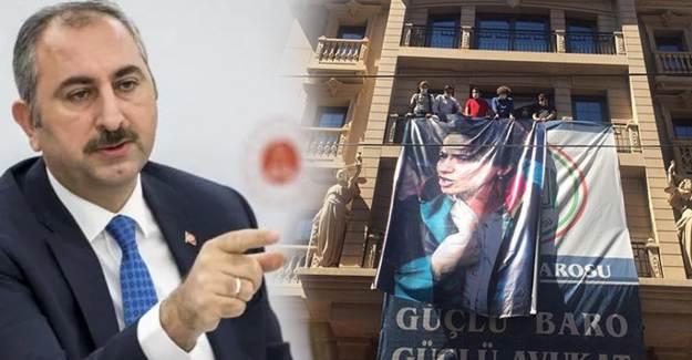 Adalet Bakanı'ndan İstanbul Barosu'nun Astığı Fotoğrafa Tepki!