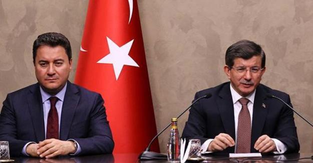 Ali Babacan ve Ahmet Davutoğlu, Parti Kurma Konusunda Anlaşamadı