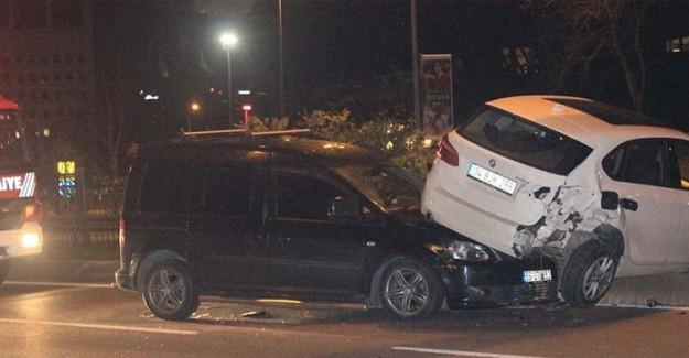 Alkollü Sürücü Kaza Yaptı:1 Yaralı