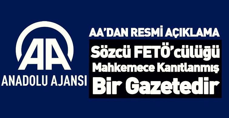 Anadolu Ajansı'ndan Sözcü Gazetesi'nin İddialarına Yönelik Kamuoyu Açıklaması