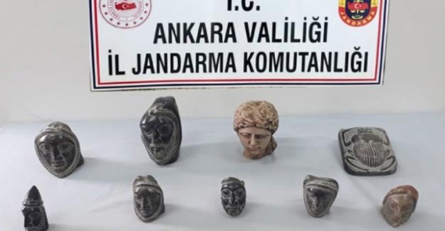 Ankara'da Helenistik Döneme Ait 14 Heykel Ele Geçirildi