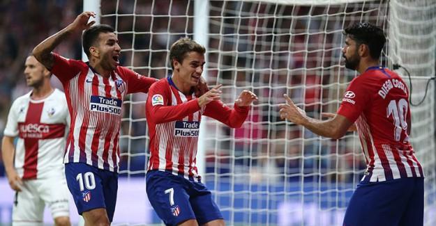 Atletico Madrid Serdar'lı Huesca'yı Üzdü!