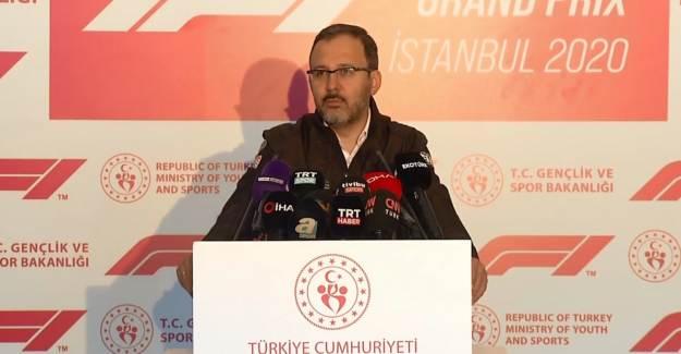 Bakan Kasapoğlu, Formula 1 Türkiye GP'sinde Konuştu