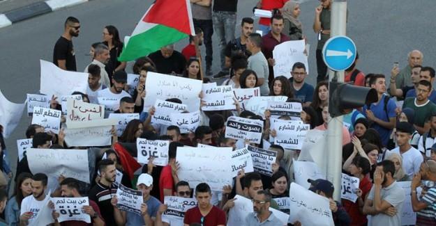 Batı Şeria'da Gazze'ye Destek Protestosu