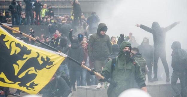 Belçika'da Göç Karşıtı Gösteri Düzenlendi! 90 Kişi Gözaltına Alındı