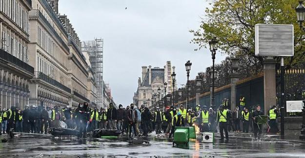 Belçika'da Sarı Yelekliler Protesto Düzenledi