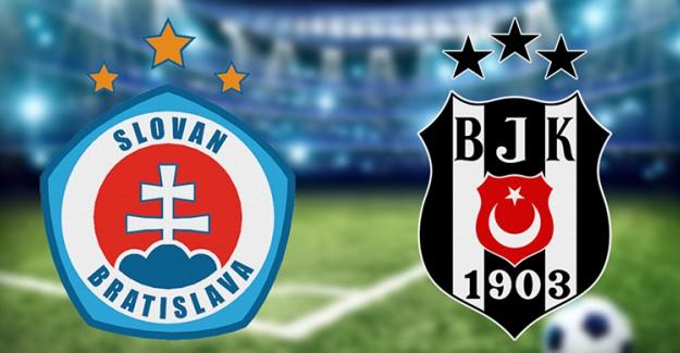 Beşiktaş - Slovan Bratislava Karşılaşmasının İlk 11'leri Belli Oldu