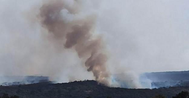 Bulgaristan'dan Türkiye Sınırına İlerleyen Yangın Kontrol Altına Alınamıyor