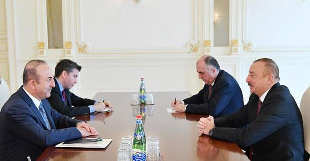 Çavuşoğlu Azerbeycan Cumhurbaşkanı'nı Ağırladı