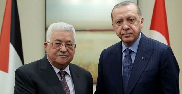 Cumhurbaşkanı Erdoğan Filistinli Mevkidaşı ile Görüştü