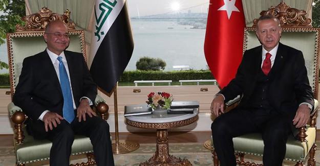 Cumhurbaşkanı Erdoğan, Irak Cumhurbaşkanı Salih İle Görüştü