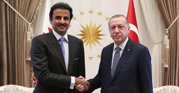 Cumhurbaşkanı Erdoğan Katar Emiri Al Sani İle Görüştü