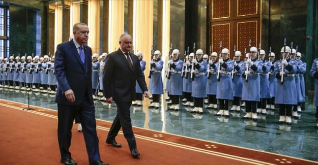 Cumhurbaşkanı Erdoğan Moldovalı Mevkidaşı Dodon'u Kabul Etti