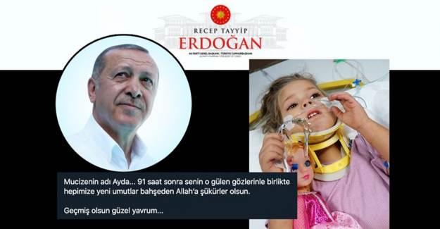 Cumhurbaşkanı Erdoğan'dan Ayda Bebeğe Mesaj