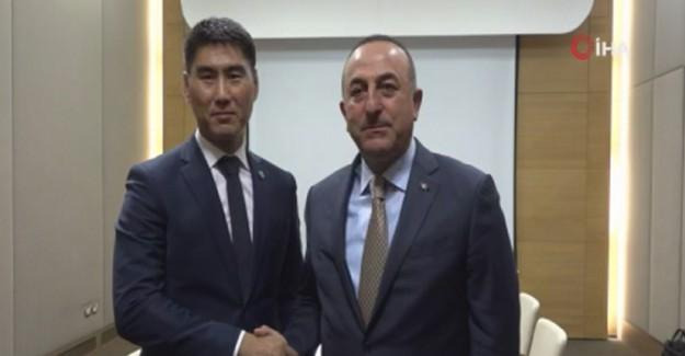 Dışişleri Bakanı Çavuşoğlu Kırgız Mevkidaşı İle Görüşme Sağladı