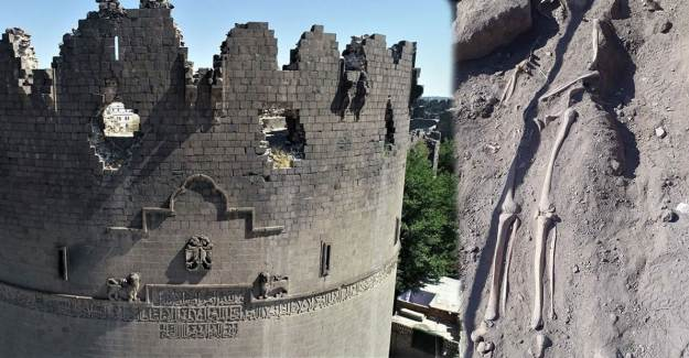 Diyarbakır Surlarında İnsan İskeletleri