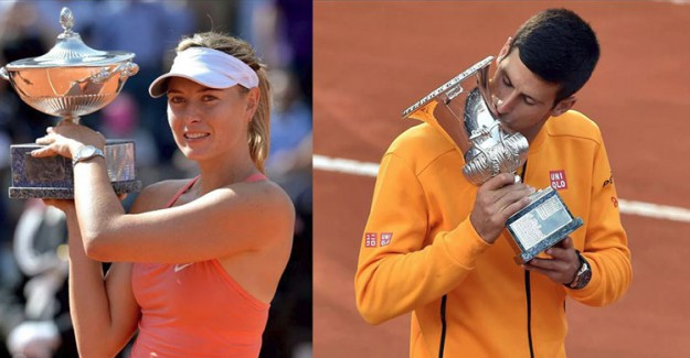 Djokovic ve Sharapova Yarı Finale Yükseldi!