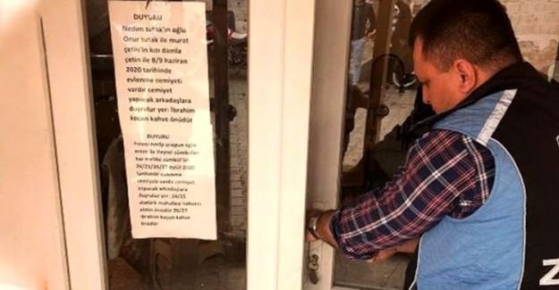 Edirne Keşan'da Açık Olan Dükkanlar Mühürlendi