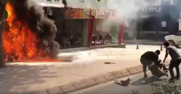 Edirne'de Can Pazarı! Motosiklet Alev Topuna Döndü