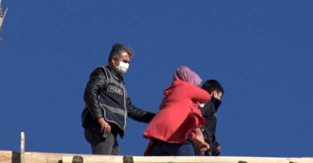 Elazığ'da Çocuklarının Gözü Önünde İntihara Teşebbüs Etti