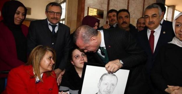 Engelli Rabia Asrak, Cumhurbaşkanı Recep Tayyip Erdoğan İle Görüştü