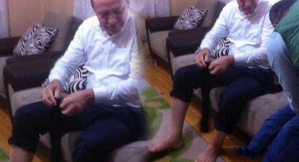 Erdoğan Şehit Evinde Abdest Aldı, Fotoğrafıyla Sosyal Medya Yıkıldı