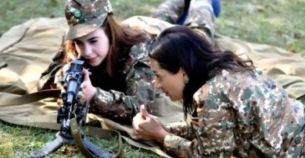 Ermenistan'da Çocuklardan Sonra Kadınlar Cepheye gidiyor