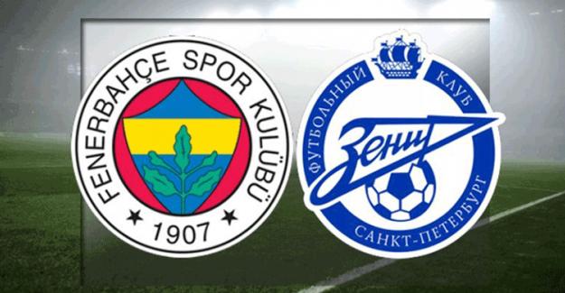 Fenerbahçe - Zenit Maçında İlk 11'ler Belli Oldu