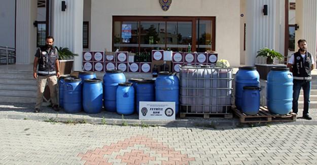 Fethiye'de Düzenlenen Operasyonda 2 bin 400 Litre Şarap Ele Geçirildi