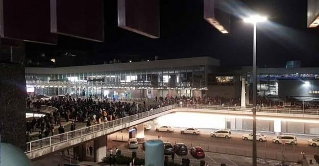 Frankfurt Havalimanı'nda Alarm Verildi! Polis Çatışmaya Girdi
