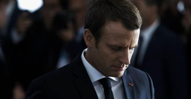 Fransa Cumhurbaşkanı Macron Dize Geldi
