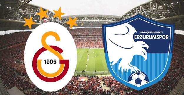 Galatasaray-Erzurumspor Maçı Canlı İzle, Ne Zaman, Saat Kaçta?