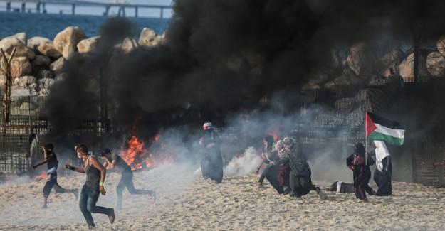Gazze Sahilindeki İsrail Saldırısında 20 Filistinli Yaralandı