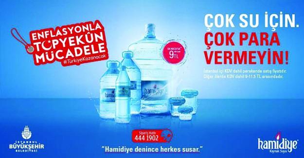 Hamidiye'den Su Fiyatlarını Dengeleyecek Kampanya; Damacana 9 TL
