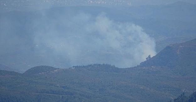 Hatay'daki Sınırda Orman Yangını