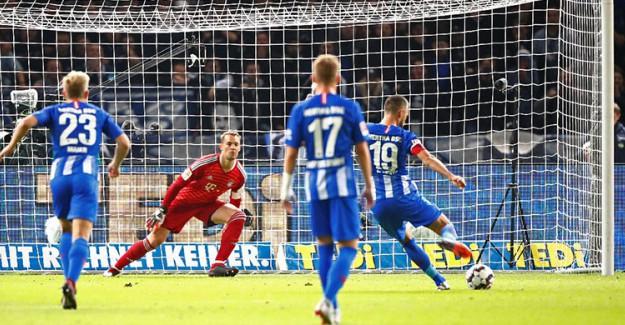 Hertha Berlin Bayern'i Yenilgiyle Tanıştırdı!