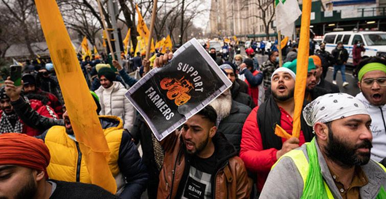 Hindistan' da Protestocu Çiftçiler Parlamento Yürüyüşünü İptal Etti