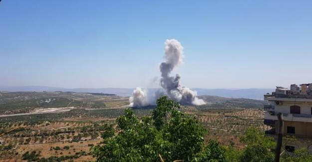 İdlib'de, TSK Konvoyunun Geçişi Sırasında EYP Patlatıldı