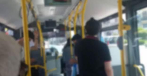 İstanbul'da Yolcular Otobüste Maske Tartışması Yaşadı