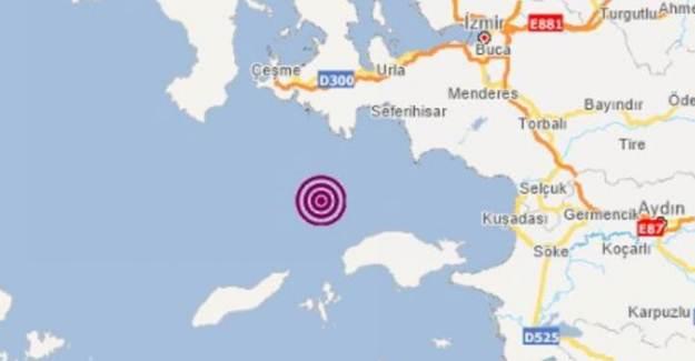 İzmir'de Artçı Deprem Meydana Geldi