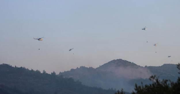 İzmir'deki Yangın İçin Havadan Söndürme Çalışmaları Tekrar Başladı