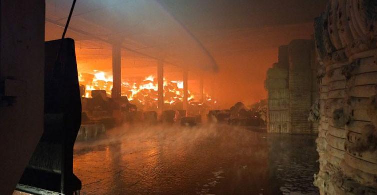Kahramanmaraş'ta Fabrikada Yangın Paniği