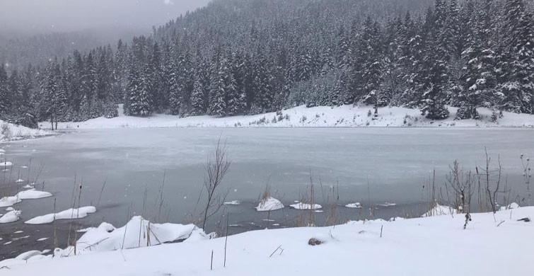 Karabük'te Kar Yağışı Sonrası Göller Dondu