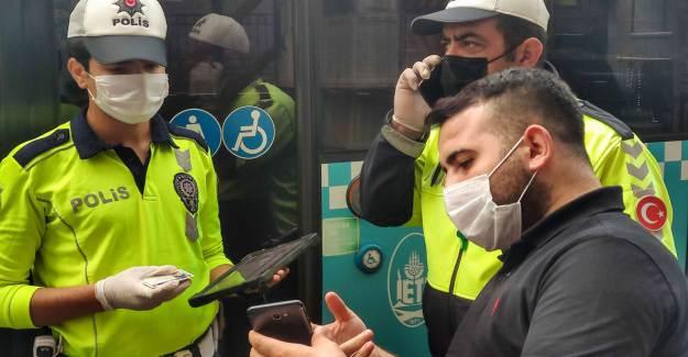 Karantinada Olması Gereken Şoför Beyoğlu'nda Yakalandı