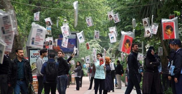 Kocaeli Büyükşehir Belediyesi Ağaçlara 3 Bin Kitap Astı